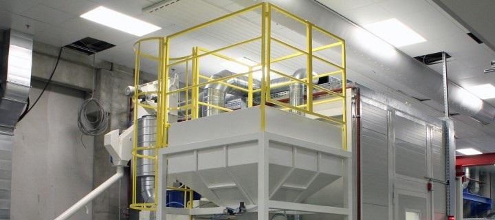 Blast room for surface treatment of serial products – SP